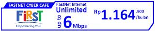 Paket Internet First Media FastNet Cyber Cafe