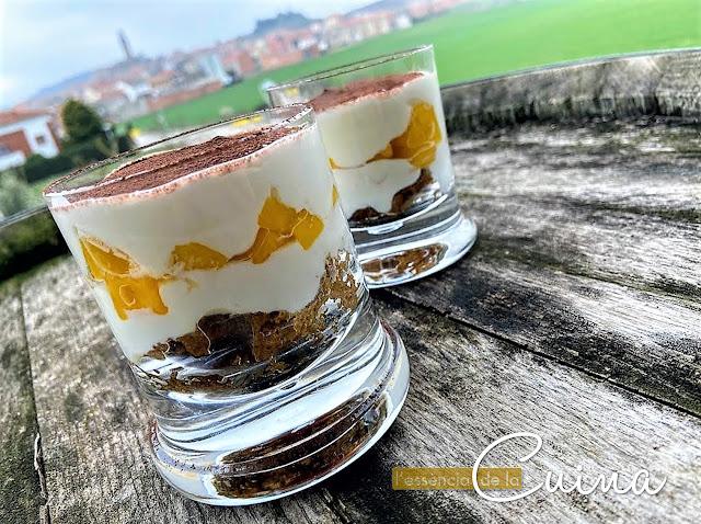 Tiramisú, Mango, postrefacil, postre, l'essència_de_la_cuina, blog de cuina de la sonia