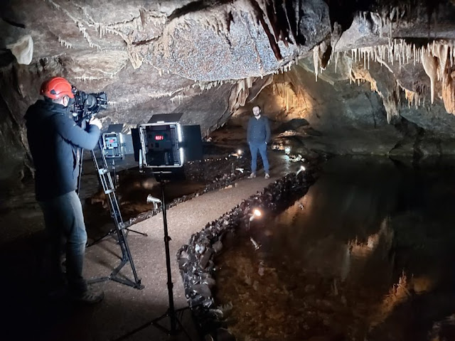 Northern Songs - filming Andrew Irwin in Marble Arch Caves - Northern Ireland Opera