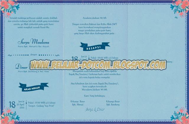 Contoh Undangan Pernikahan Kristen dengan ERBA 88196 Download Cdr