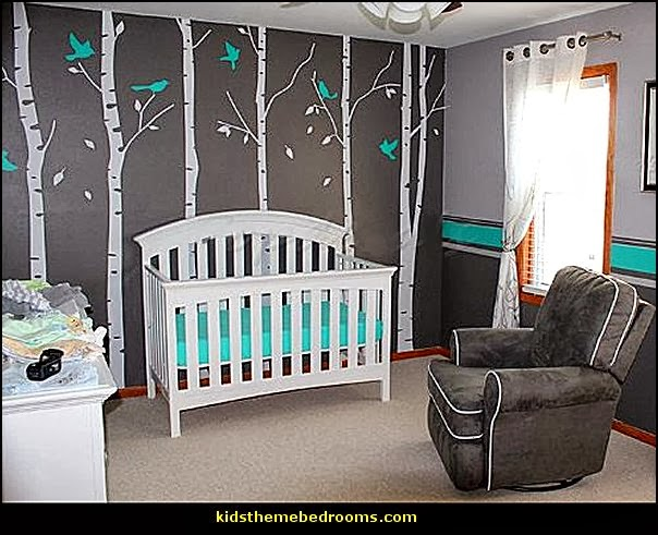 Decorating theme bedrooms maries manor baby bedrooms for Baby mural ideas