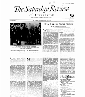 How I Write Short Story, 1934 The Saturday Review of Literature - W. Somerset Maugham