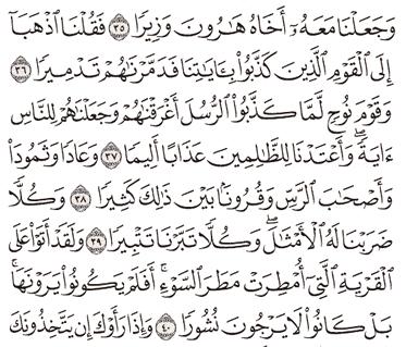 Tafsir Surat Al-Furqan Ayat 36, 37, 38, 39, 40