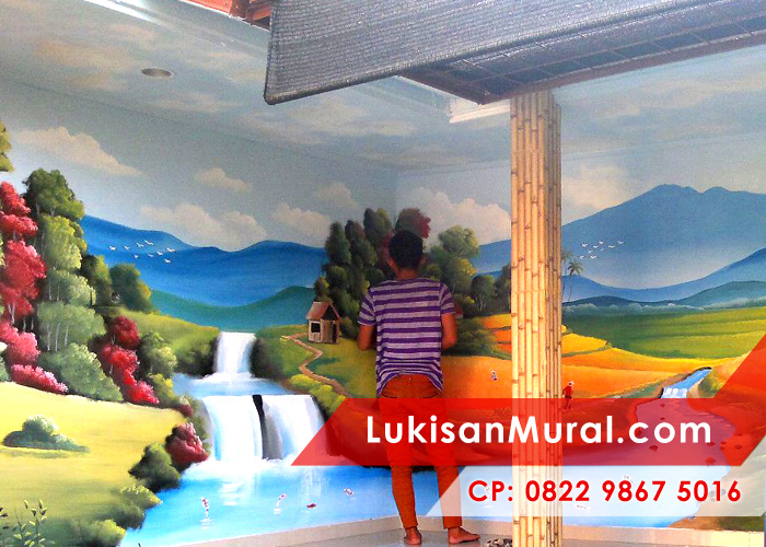 Lukisan dinding sebagai penghias ruangan yang sempurna for Mural untuk kanak kanak