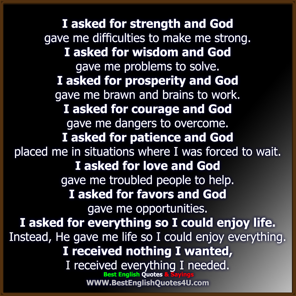 I Asked God For You Quotes