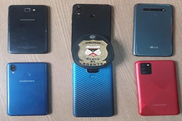 Polícia recupera 6 celulares roubados em Porto Velho e alerta para o crime de receptação