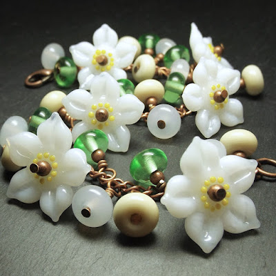 'Apple Blossom' Garland Bracelet by Laura Sparling