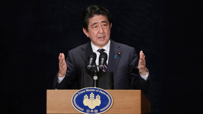 Japan PM to be first foreign leader to meet Trump