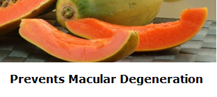 Health Benefits of Papaya - Paw paw Prevents Macular Degeneration