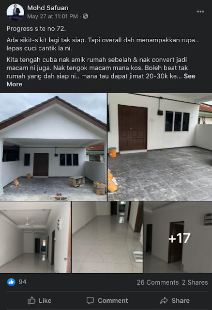 Contoh rumah busuk yang pernah diuruskan oleh tuan Mohd Safuan (Site no 72)