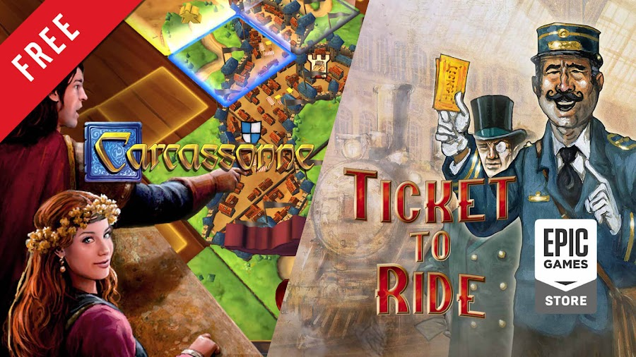 carcassonne ticket to ride free pc game epic games store turn-based strategy train board game asmodee digital days of wonder