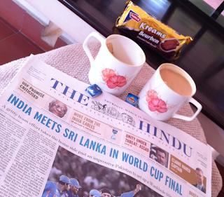 Morning tea in India