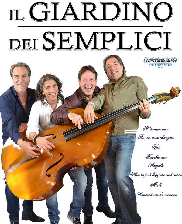 Solo caserta concerti il giardino dei semplici in concerto agosto 2016 festa san bernardo e san - Il giardino dei semplici ...