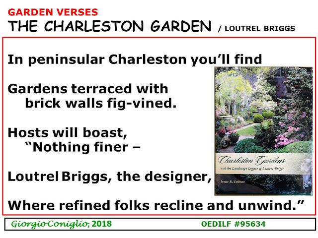 limerick; gardens; docent; Charleston; South Carolina' Giorgio Coniglio