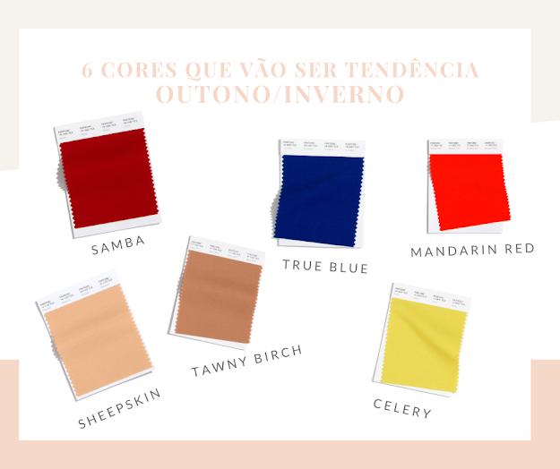 6 cores que vão ser tendência no Outono/Inverno