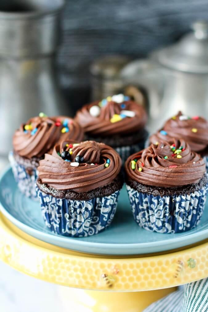 Chocolate Whiskey Cupcakes