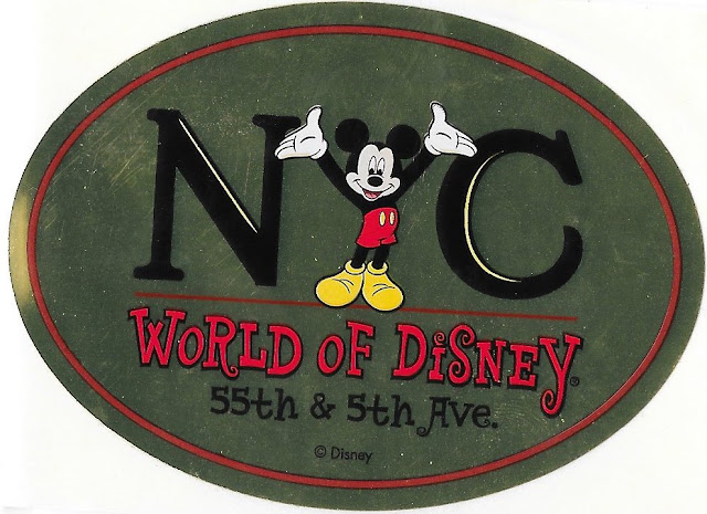NYC World of Disney 55th and 5th Avenue Sticker