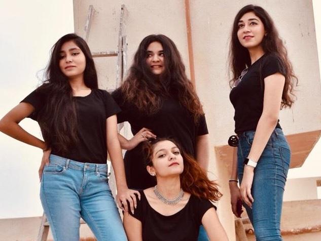 Simal Nafees, Ayesha Akbar Waheed, Eman Pirzada, and Sajar Nafees perform with the band name Irteassh.