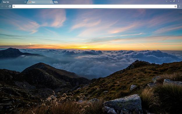 Dawn Mountain Google Chrome Theme