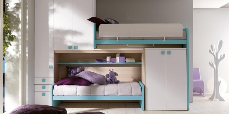 Bonetti camerette bonetti bedrooms cameretta stretta e lunga - Camere da letto piccoli spazi ...