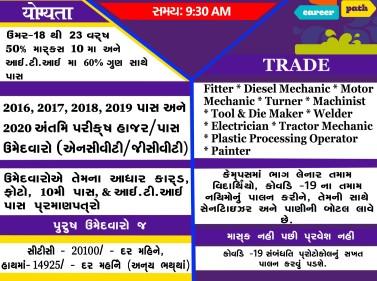 Suzuki Motors ITI Campus Placemat Recruitment at Govt ITI Lunawada, Govt ITI Balasinor and Govt ITI Malpur, Gujarat