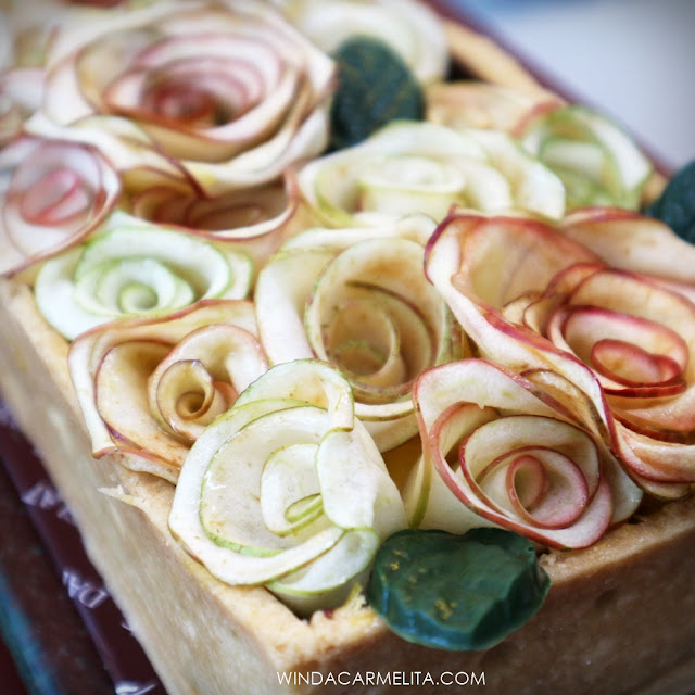 dapur cokelat malang rose apple pie