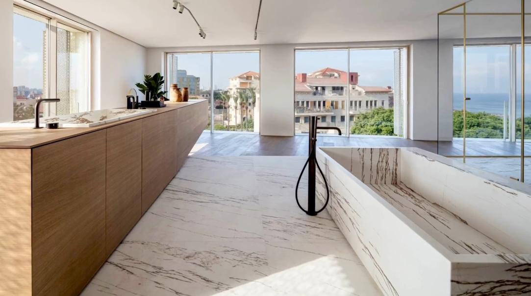 25 Interior Design Photos vs. Jaffa Penthouse of John Pawson Hotel Israel