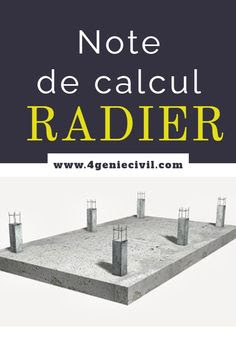 Exemple note de calcul radier