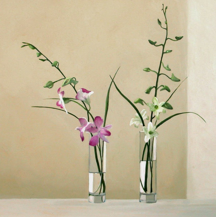 Cuadros pinturas oleos arreglos florales cartuchos en floreros de vidrio - Fabrica de floreros de vidrio ...