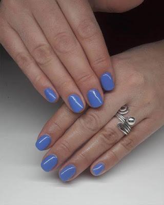 Ideas de uñas gelish cortas azules
