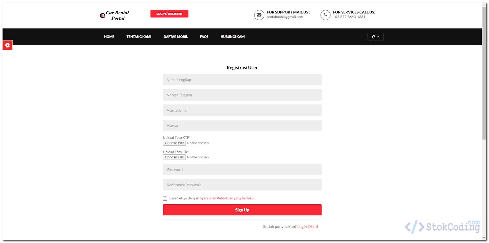 Sistem Informasi Rental Mobil Online (PHP)