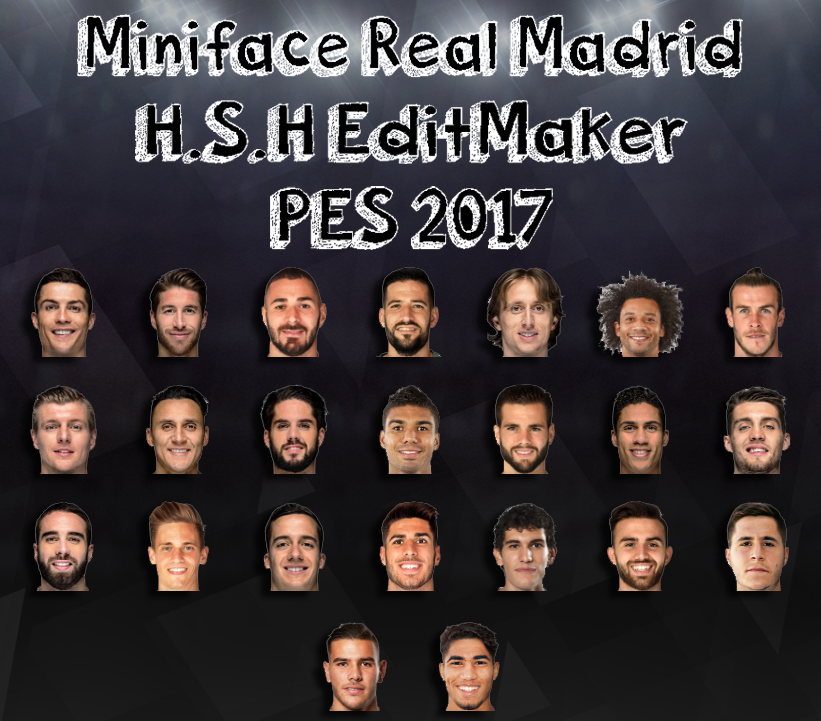PES 2017 Miniface Real Madrid by H.S.H EditMaker