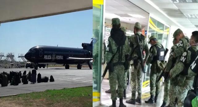 Ultima hora arriban dos vuelos de La Guardia Nacional a Culiacán Sinaloa con 700 elementos se rumorea iniciaran operativos