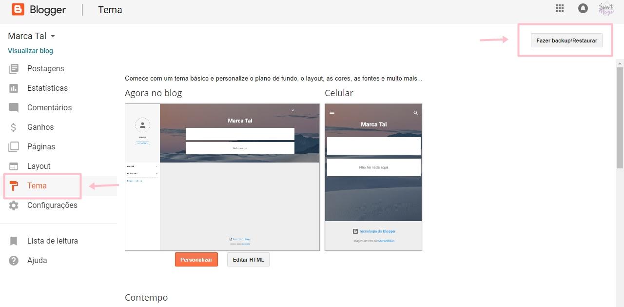 Tutorial como criar um blog