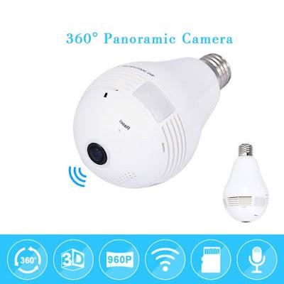 lâmpada led espiã com câmera por wi fi (lançamento)