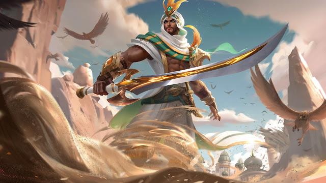 Khaleed Desert Scimitar Heroes Fighter of Skins ML HD Wallpapers