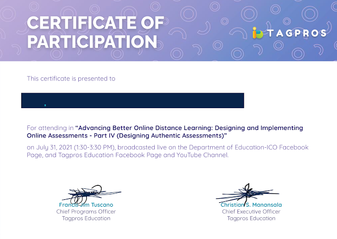 Tagpros Day 4 Certificate   Now Ready for Download   July 31, 2021 Session
