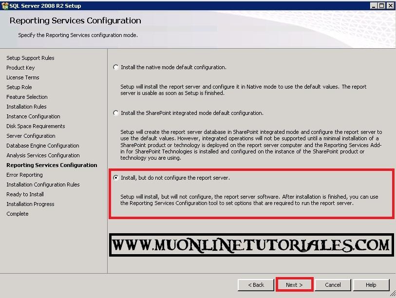 Configuracion de servidor de informes o reportes