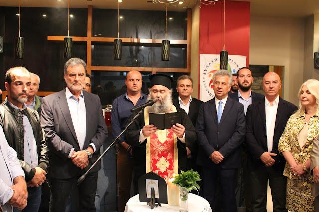 """Εγκαινιάσθηκε το εκλογικό κέντρο της """"Δυνατής Ερμιονίδας"""" στην Ερμιόνη"""