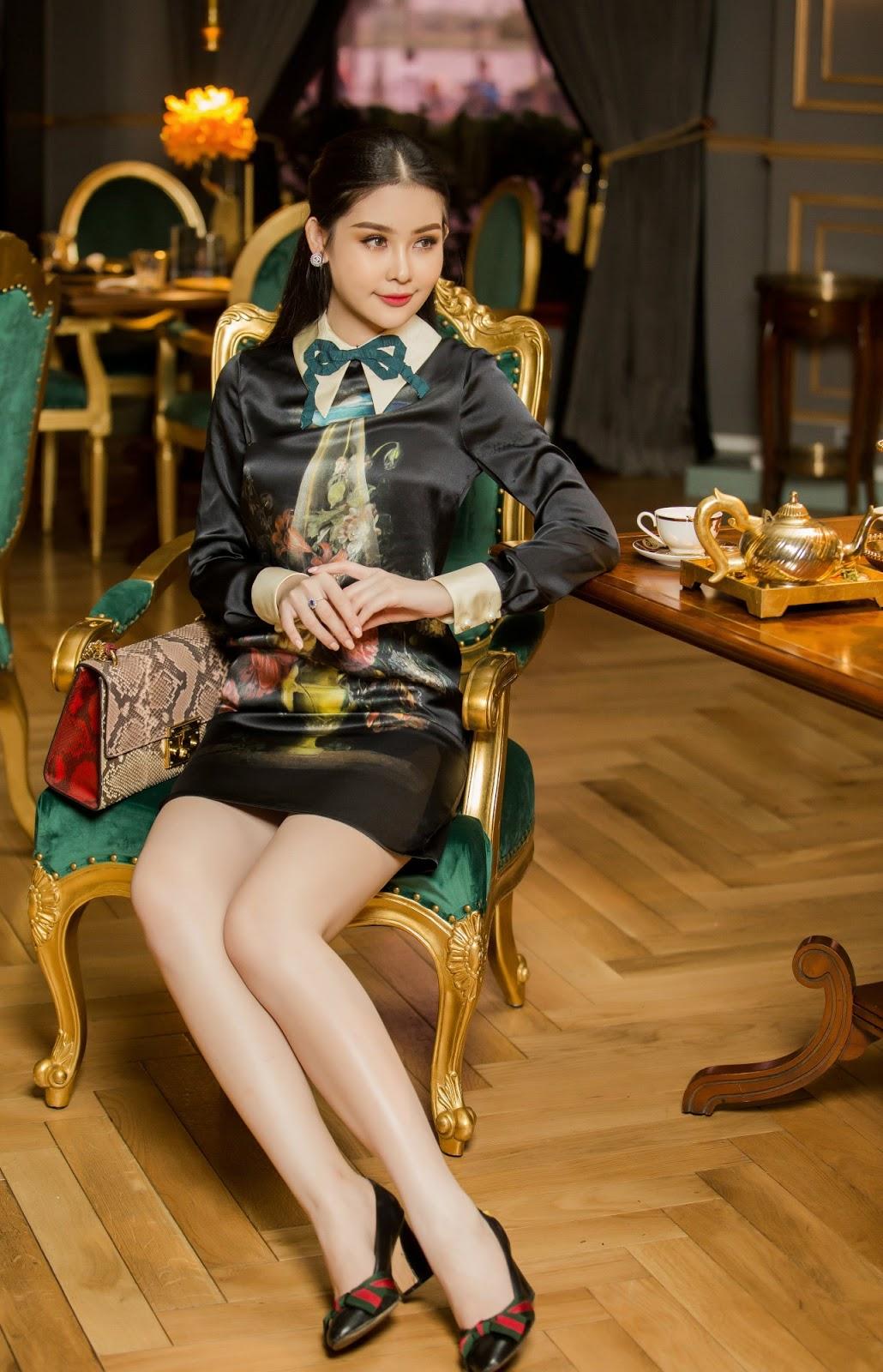 Hoa hậu Ngân Anh diện váy bó sát khoe thân hình chữ S đầy 'mê hoặc' -10