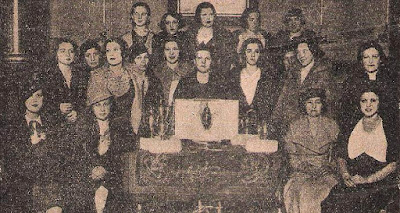 Ajedrecistas participantes en el I Campeonato Femenino de Ajedrez, Madrid 1934