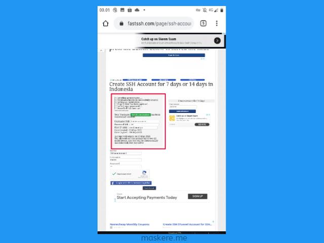 Cara membuat akun SSH di Fastssh.com