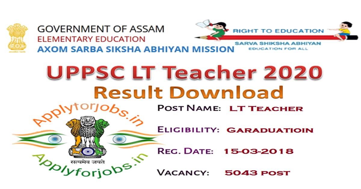 UPPSC Hindi LT Assistant Teacher 2020 Result