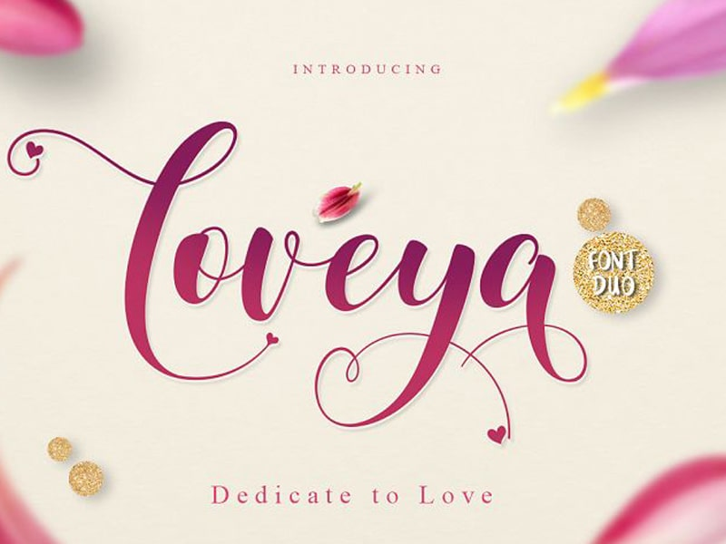 Loveya Script Free Font For Commercial Use Free Fonts For