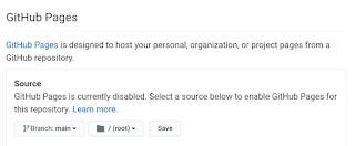 create GitHub Page.