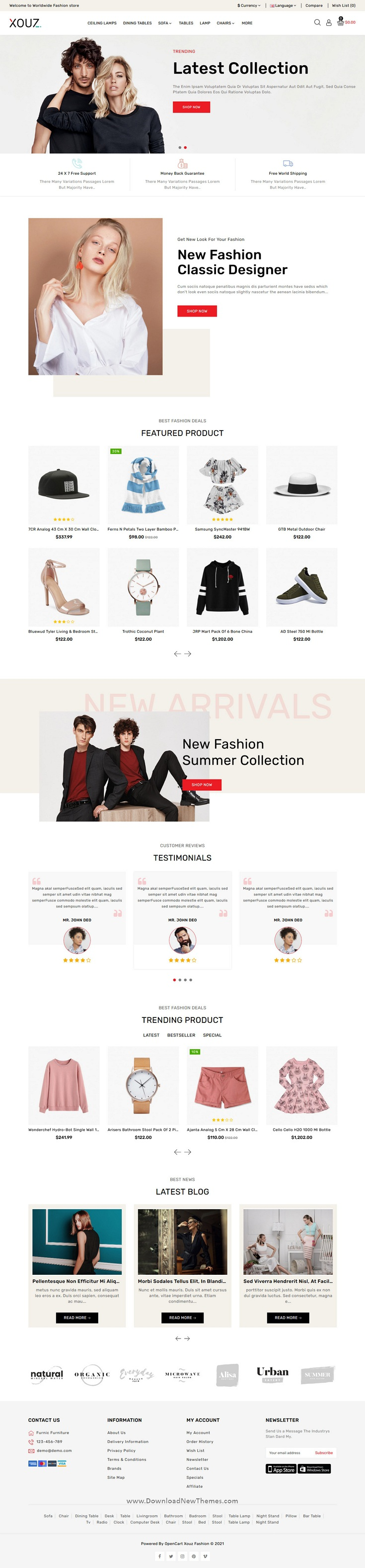 Fashion and Accessories Shop OpenCart Theme