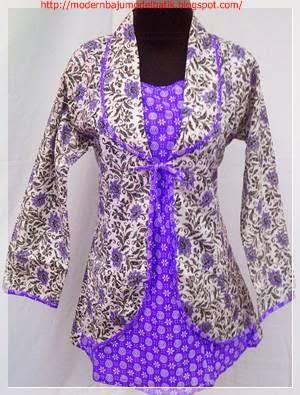 Gambar Model Baju Batik Wanita Untuk Kerja