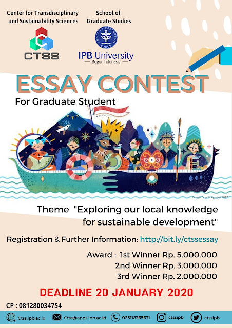 Lomba Essay Contest For Graduate Students By IPB