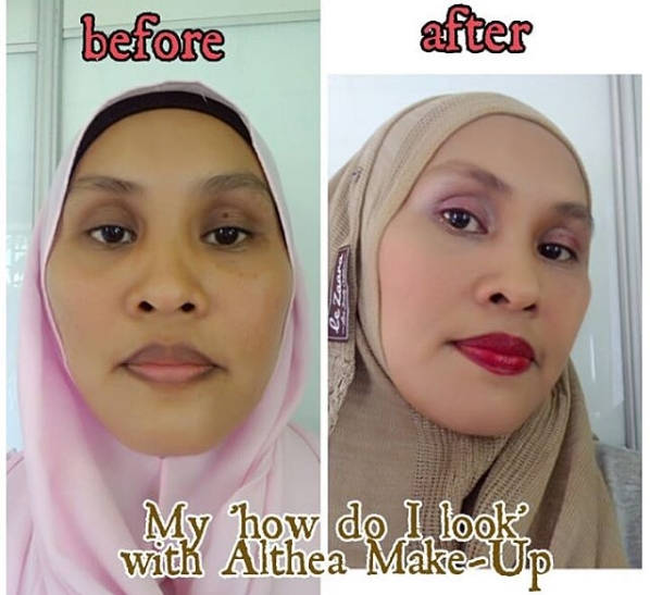 Make Up Before and After