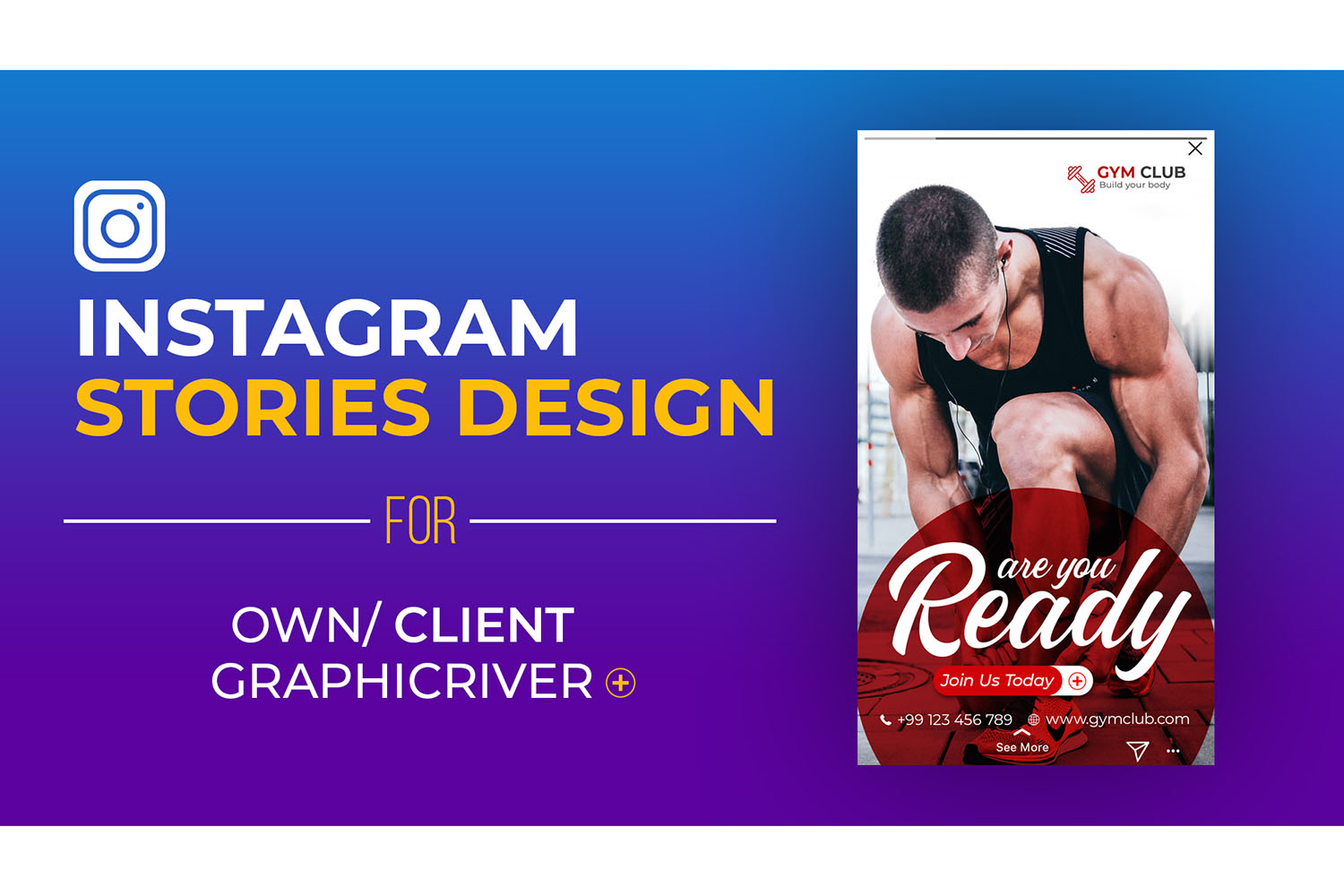 How to Create Instagram Stories Design in Photoshop Tutorial